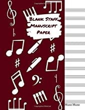 Blank Staff Manuscript Paper: A 12 Stave Music Notebook