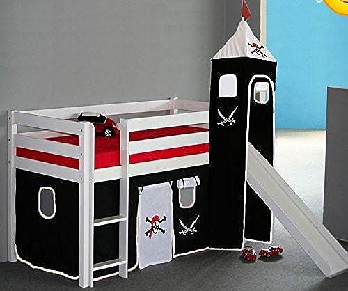 Kinderbett Hochbett Pirat Peter mit Rutsche 90x200