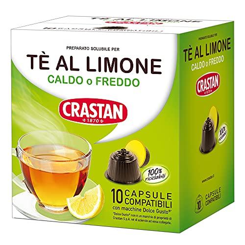 Crastan Capsule Compatibili Dolce Gusto - Tè al Limone Confezione da 6 astucci contenenti 10 capsule - Totale 60 capsule