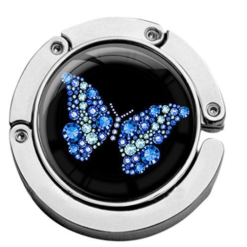 metALUm Taschenaufhänger Handtaschenhalter Schmetterling mit faltbarem Magnetverschluss #2601098