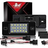 WinPower LED Luces de matrícula para coche Lámpara Numero plato luces Bulbos 3582 SMD con...