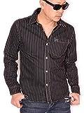 (バンソン) VANSON クロスボーン ワンポイント刺繍 ツイルシャツ 長袖シャツ NVSL-803 ウォバッシュ XXL