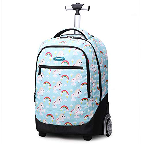 Rolling Backpack,19 Inch Trolley Bags Wheeled School Backpack for Children Teens,C-OneSize
