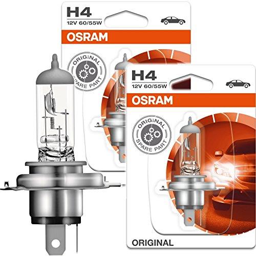 2x OSRAM Halogenlampe H4 ORIGINAL LINE 12V 60/55W P43t 64193-01B