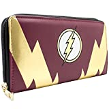 Cartera de DC Comics Flash Rayo de oro Rojo