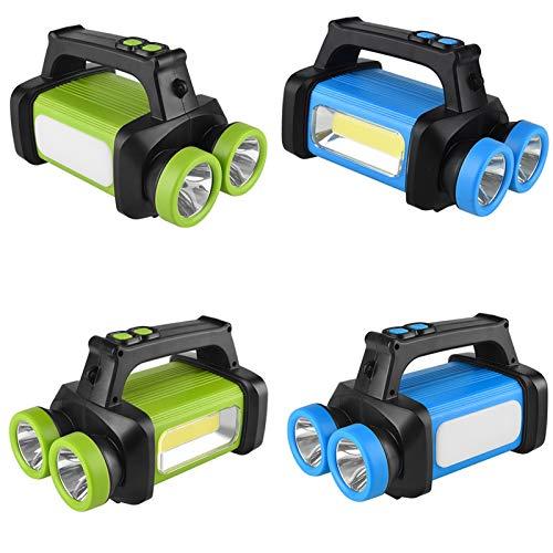 Para al aire libre Caminando Camping GLARE LED Linterna Linterna Portátil COB TRABAJO LIGHT SOFT LIGHT BLANCO + AMARILLO LUZ Uso 3 x Batería AA para acampar, Aventura, etc. ( Body Color : Green )