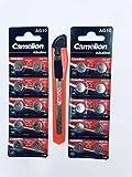 Zimbo Camelion - Pilas alcalinas de botón (20 unidades, LR 1130 AG10, 1,5 V, incluye cúter