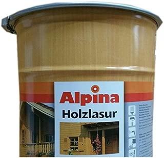 Alpina Universal Holzlasur Lösemittelhaltig 5 Liter Farbton Wählbar, Farbe:Weiß
