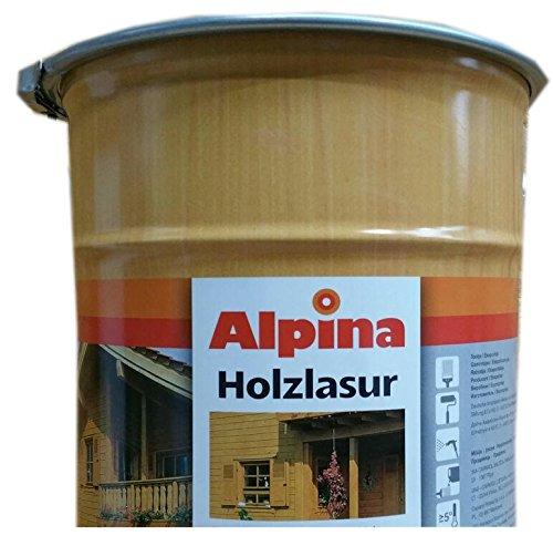 Alpina Universal Holzlasur Lösemitellhaltig 10 Liter Farbton Wählbar, Farbe:Pinie