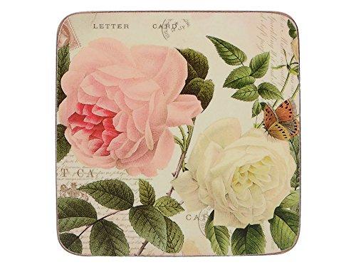 Creative Tops Rose Garden Premium-Untersetzer mit Korkrückseite im 6er-Set, 10,5 x 10,5 cm (4 x 4 Zoll)