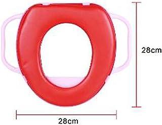 Cisne 2013, S.L. Tapa Asiento para Inodoro para niños con reposabrazos Antideslizante. Reductor Inodoro niño WC. Medidas 25x25cm. Color Rojo.