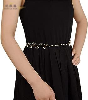LUKEEXIN Belt Bride Pearl Handmade Wedding Dress Accessories Curtain Strap Bride Wedding Jewelry (Color : Ivory)