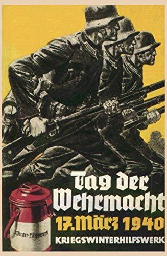 Schatzmix Tag Der Wehrmacht 1940 Duitse solda-motief muur retro ijzer poster schilderij plaque blik vintage metalen bord, 20 x 30 cm
