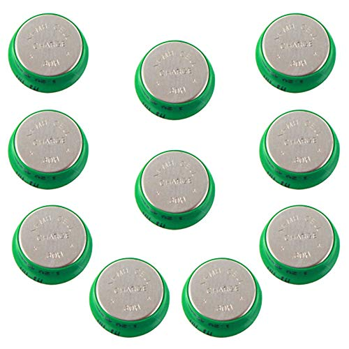 10pc Button 40mAh Rechargable 1.2V NiMH Flat Top Batteries use with electric mopeds meters two radios electric razors toothbrushes cameras mobile phones pagers medical instruments/equipment USA SHIP
