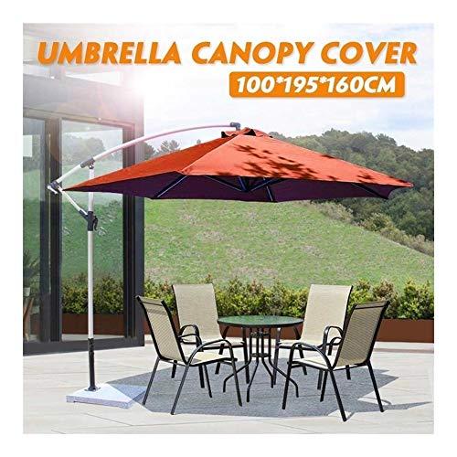 Sombrilla impermeable Oxford tela Patio Overhang Sombrilla Muebles al aire libre de poliéster al aire libre Jardín Plátano sombrilla Canopy