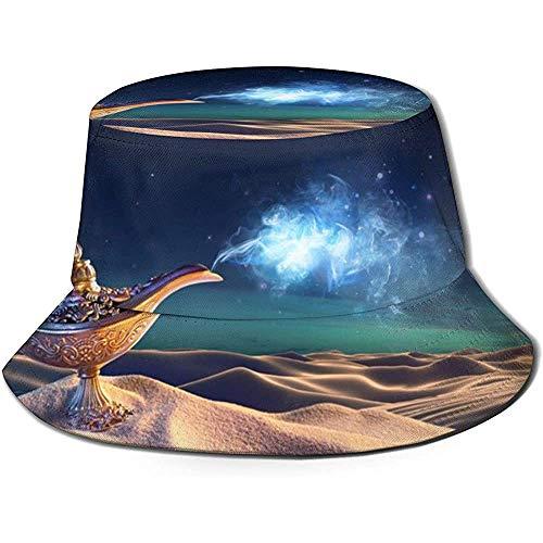 Bucket Hat Packable Reversible the woestijnelf von der Flessen Print zonnehoed vishoed cap outdoor camping vissen safari unisex