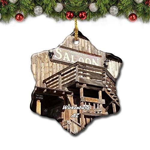 Umsufa Wickenburg Museum Arizona USA Christmas Tree Ornament Travel Gift Souvenir 3 Inch Porcelain Double Side