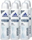 adidas adipure Deo Body Spray für Damen, 6er Pack (6x150 ml)