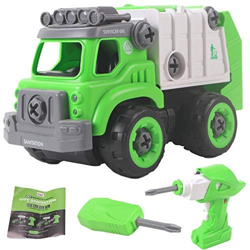 STEM Garbage Truck Take Apart Toy for 3 4 5 Year Old Boys Girls |...