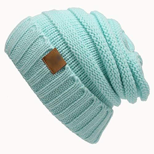Yllang Chapeau de bonnet de Marque d'hiver casquettes super star dame chaud Chapeau d'hiver for les femmes Girl « S Bonnet tricoté Chapeau Bonnet épais femmes'S Skullies Beanies ( Color : Sky blue )
