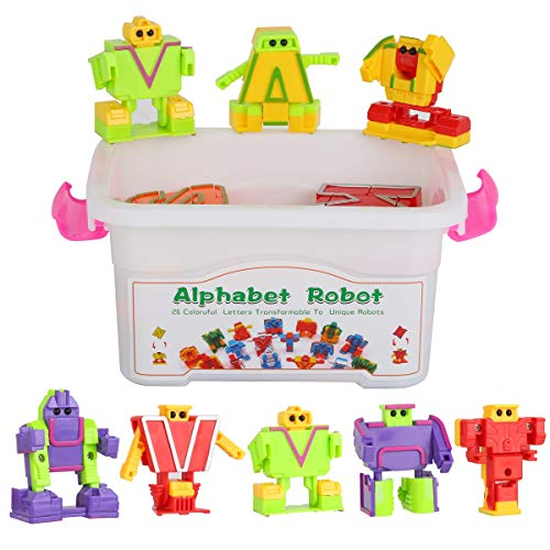 26 Colorful Alphabet Robots ABC Learning toys Transforming Toys Robot Letters for Kids