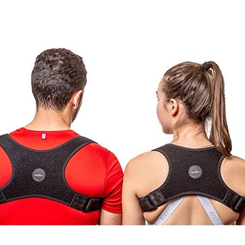 NOVEO+® Correcteur de posture Hommes et Femmes / Support Dos / Orthèse de maintien pour Dos, Clavicule, Cou et Épaules / soulage les Douleurs dorsales / Taille...