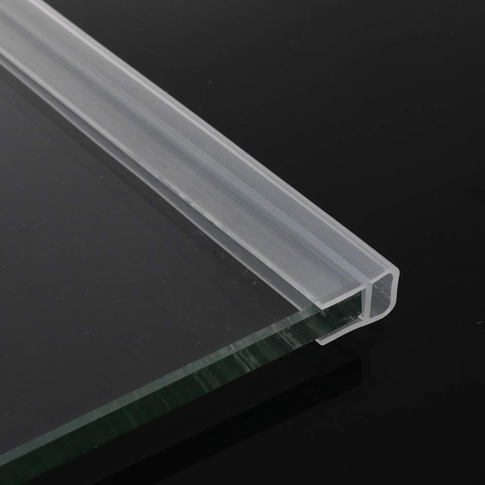Sello 1M 6-12 mm de caucho de silicona de cristal de ventana Sello de Gaza F U h Forma puerta de vidrio sellado de las tiras de mampara de baño puerta Burlete
