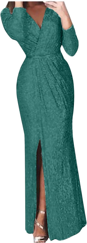 ZGRZ6DDFQ Womens Elegant V Neck Wrap Dresses Slim Fit Solid Dres