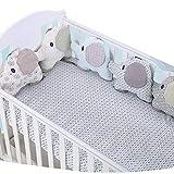 protector cuna,Creativo Baby Algodón Cot Liner Bumper, Adorable forma de...