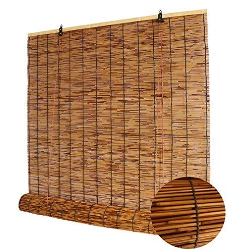 Tapparelle in Reed retrò,Tenda a Lamella Naturali,Tenda Bamboo,Tessuto a Mano/Antipolvere/Tendina Parasole/Anti-UV,per Esterno/Interno,Personalizzabile(50x80cm/20x32in)