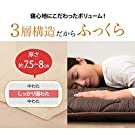 """EMOOR Japanese Futon Mattress Ones-2"""" Twin Size (39x83in) Brown 3-Layered Non-Vacuum-Sealed Made in Japan #1"""