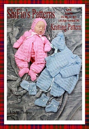 Knitting Pattern - KP90 - baby boy girl jacket, leggings and hat - 0-3mths - USA Terminology (English Edition)