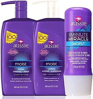 Aussie Kit Moist Shampoo, Condicionador 865ml e Mascara 236ml