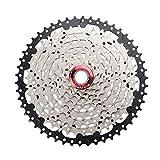 TUCKE Bicicleta de montaña MTB 9 velocidades 11-50T Cassette Freewheel Blcak Silver Steel Rueda piñón compatible con Shimano Sram