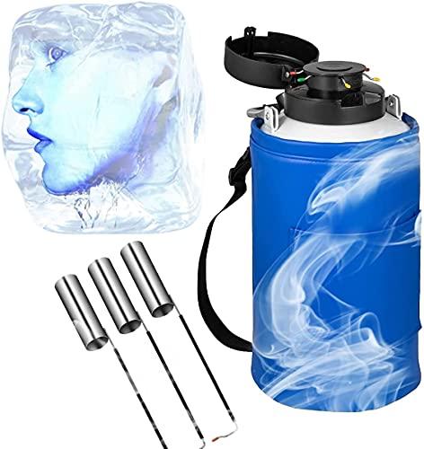 WXFCAS Contenedor de nitrógeno líquido criogénico, portátil LN2 Tanque, dewar pequeño, aleación de Aluminio, Boca de vacío, Forro de Alta presión, Bolsa aislada, múltiples Modelos, for Almacenamiento
