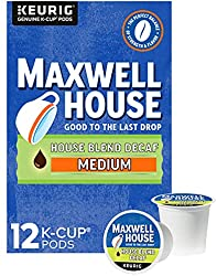 Maxwell House Decaf House Blend Medium Roast K-Cup Coffee Pods (12 ct Box)