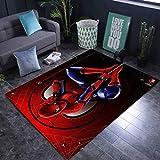 Kele Alfombra para niños de Dibujos Animados Anime Spiderman Rojo 3D Alfombra de guardería niño habitación de niños Alfombra Antideslizante para Dormitorio 60 * 90cm