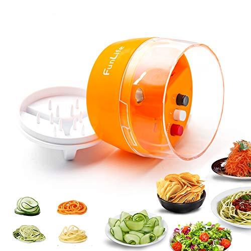 Fun Life Spiralschneider Hand Gemüseschneider 4-in-1 Gemüsehobel für Karotte, Gurke, Kartoffel,Kürbis, Zucchini, Zwiebel