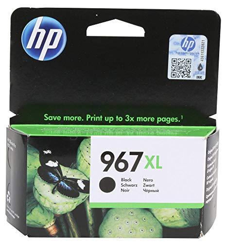 Cartón de tinta, 3Ja31Ae, No 967Xl, Negro, Cartucho Original Tipo Número 3Ja31Ae, Color de la Tinta Negro, Para HP,967, Referencia Oem Hp967Bkxl