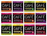 Viaggio Espresso Cápsulas de café compatibles con máquinas Nespresso Selección sin descafeinado (120 Cápsulas)