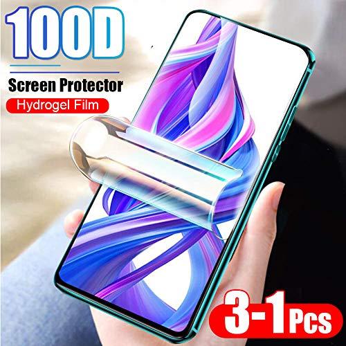 [3 Paquetes] Película Protectora de hidrogel 100D Cubierta Completa para Xiaomi Redmi 4X 5 Plus 6 K20 Pro 7A Nota 4 5 8 7 Pro Protector de Pantalla hidrogel-para Redmi Note 7_Película de hidrogel