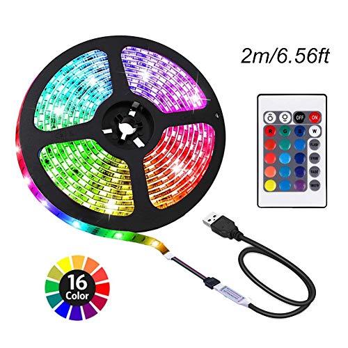 ACONDE 656 feet USB LED Strip Lights DIY Indoor Decoration TV Backlight 24 Keys Remote