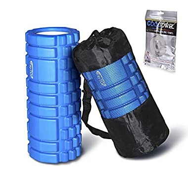 FayTOP Foam Roller for Muscle Massage- Super Effective Exercise Equipment- Helps with Physical Therapy/Myofascial Release/Cramp Relief/Tight Muscles