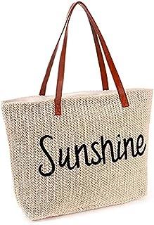 Large Beach Bag for Women Waterproof Weekender Big Pool Tote Bag With Zipper, Inner Pocket