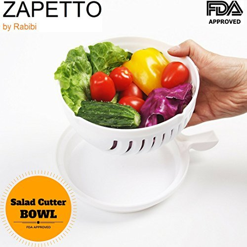 Salad Cutter Bowl, Vegetable Cutter Bowl Zapetto - Your Own Fresh Salad Home Made In 30 Seconds