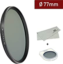 77mm Circular Polarizer Filter Ultra Slim 12 Layers Multi Coated CPL Filter for Canon EF 16-35mm f/4L is USM,EF 70-200mm f/2.8L is II USM,EF 100-400mm f/4.5-5.6L is II USM Lens