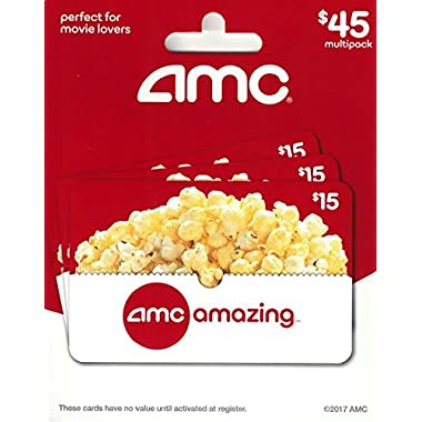 AMC Theatre Gift Cards, Multipack of 3 - $15