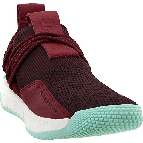 adidas Men's Harden LS 2 Lace MVP Basketball (13 M US, Red/Maroon/Clear Mint)