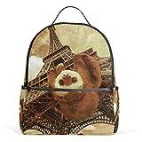 Animal Sloth Mochilas de la Torre Eiffel Computadora Mochila para Libros Viajes Senderismo Camping Mochila