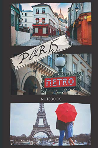PARIS NOTEBOOK: Paris notebook | Journal with college ruled pages for writing and doodling|Composition book|vintage notebook to write in
